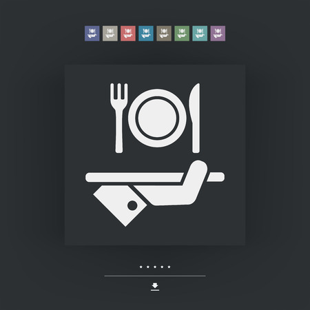 guest house: Hotel icons. Food. Illustration