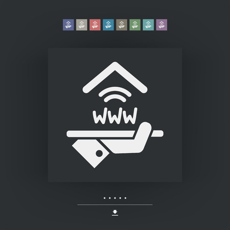 apartment suite: Hotel icon. Wi-fi service. Illustration