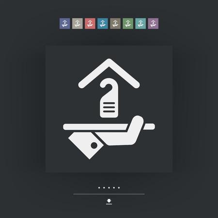 apartment suite: Hotel icon. Privacy concept.