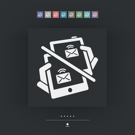 mailer: Web message icon Illustration