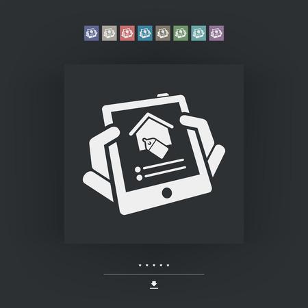 habitation: Real estate icon Illustration