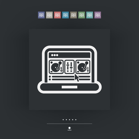 mixing: Deejay mixing console icon Illustration