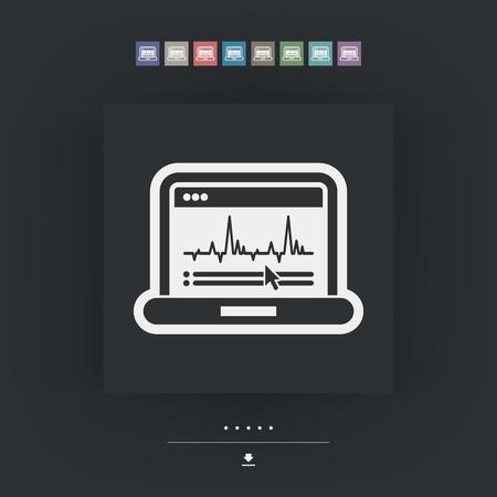 graphic: Graphic diagram computer icon Illustration