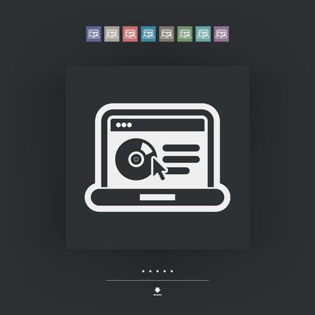 ic�ne logiciel: ic�ne du logiciel du site Illustration