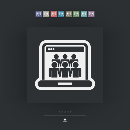 socialize: Social Network concept icon Illustration