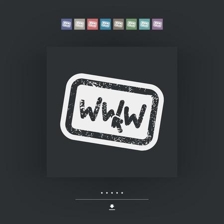 www: www grunge stamp