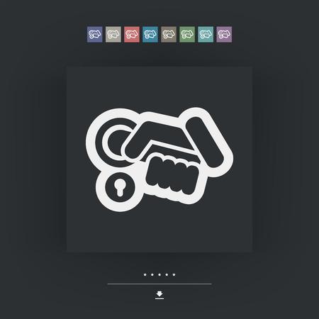 handle: Open handle icon