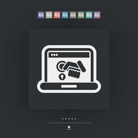 authorization: Computer privacy concept icon