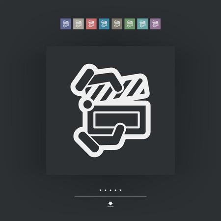 clapboard: Clapboard concept icon