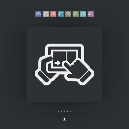 slide show: Touchscreen sliding icon