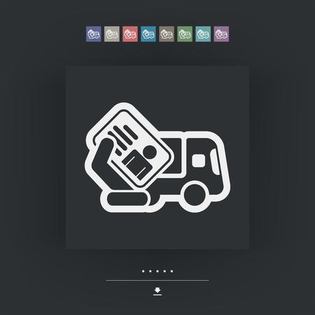 Truck document icon