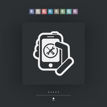 guaranty: Smartphone setting icon Illustration