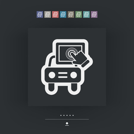 multitouch: Touchscreen car device Illustration