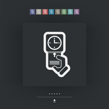 bank records: Clocking-in card icon Illustration