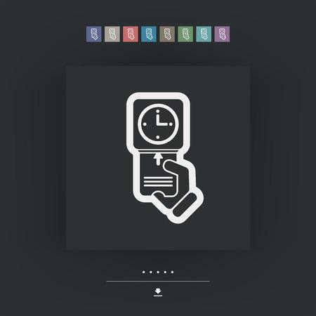 Clocking-in card icon Illustration