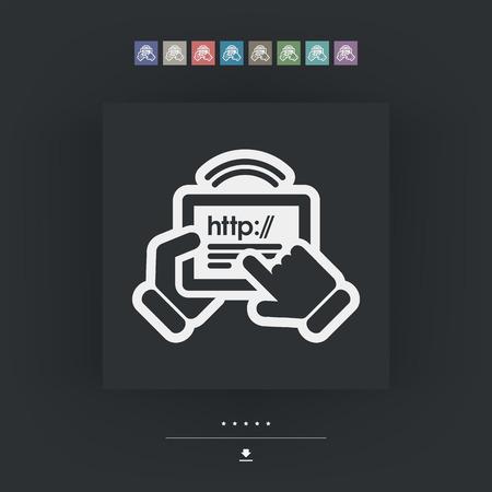adsl: Web connection tablet