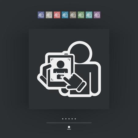 Digital photo concept Vector