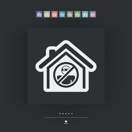 delinquent: House protection icon Illustration
