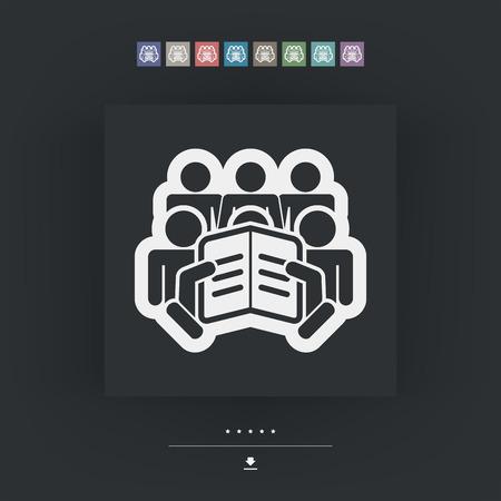 briefing: Reader concept icon