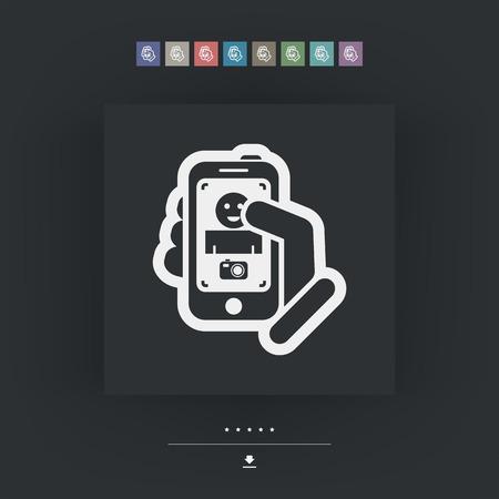 videomaker: Digital photo concept Illustration