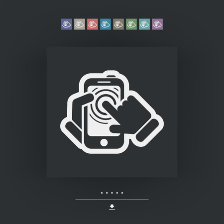 touck: Smartphone touchscreen icon