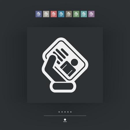 timecard: Id card icon
