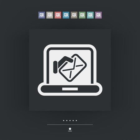 mailer: Computer mail icon Illustration