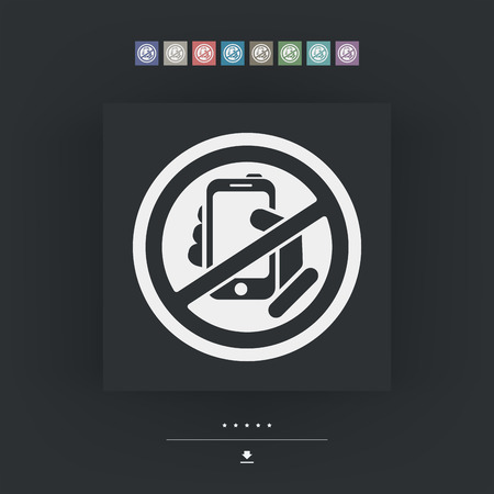 forbidden: Forbidden phone icon Illustration