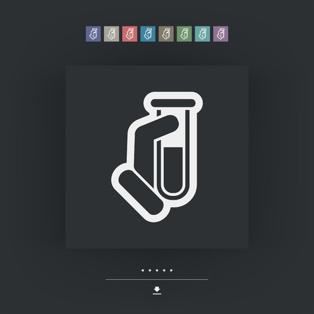 test tube: Test tube icon