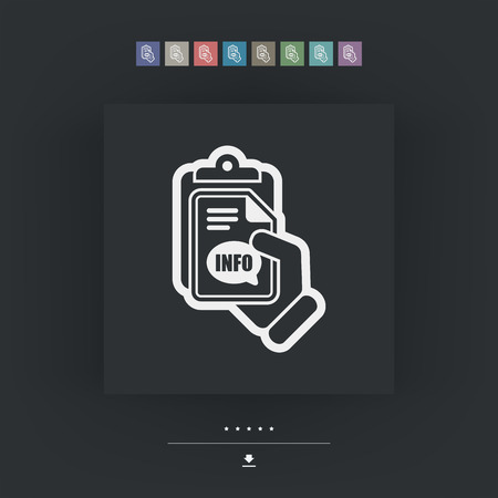 costumer: Info document icon Illustration
