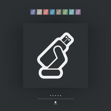 usb memory: Usb memory icon Illustration