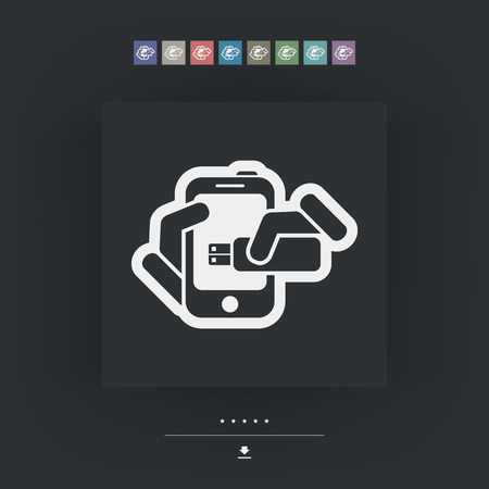 tb: Smartphone storage icon Illustration