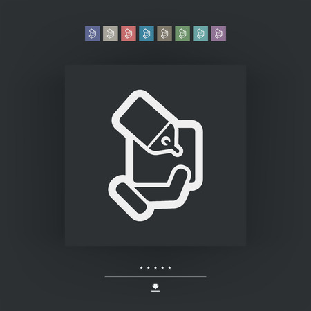 handing: Handing a gift icon Illustration