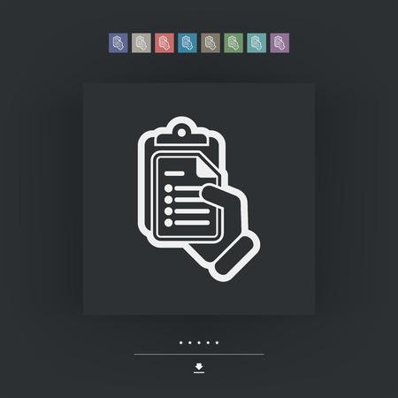 corporate image: Document icon Illustration