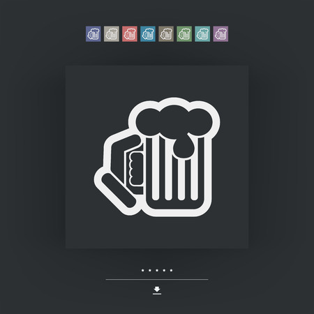 draughts: Beer mug