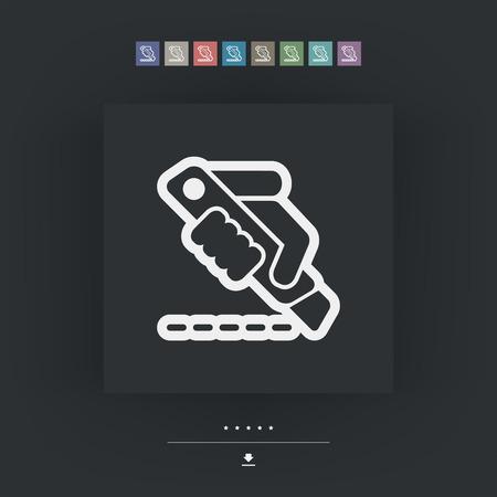 cutoff blade: Cutter icon