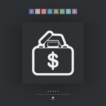 Money handbag Illusztráció