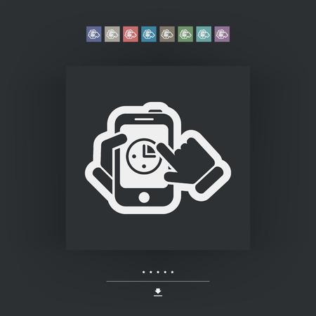 touchphone: Smartphone clock Illustration