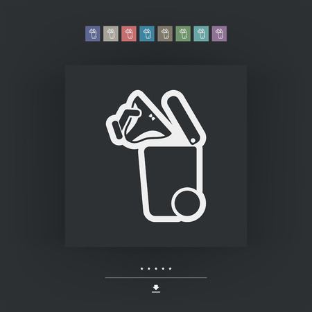 knickers: Separate waste collection icon