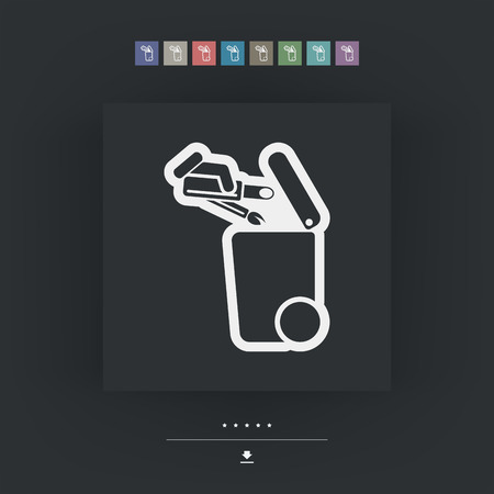 dumpster: Separate waste collection icon