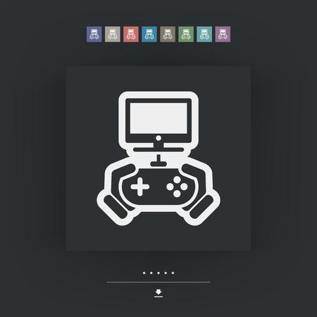 videogame: Videogame icon Illustration