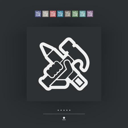 Work tools icon Illusztráció