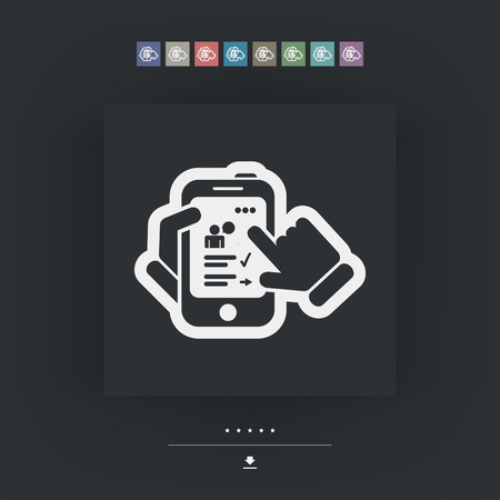 transmit: Smartphone icon. Chat application.