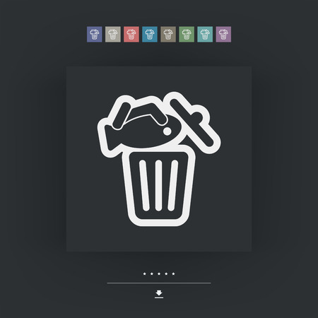 alimentary: Food trash icon