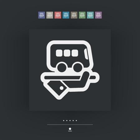 pullman: Hotel icon. Bus service. Illustration