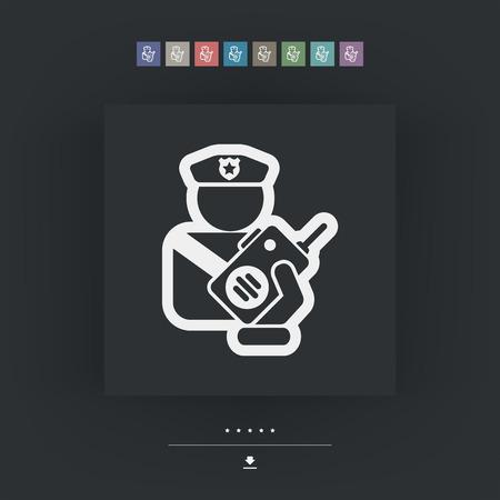 portability: Policeman radio