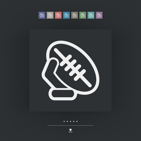 ovoid: Rugby ball Illustration