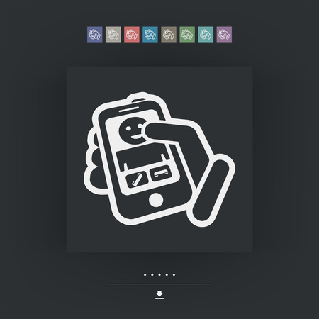incoming: Incoming call icon Illustration