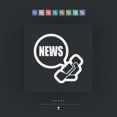 news update: Phone news icon Illustration