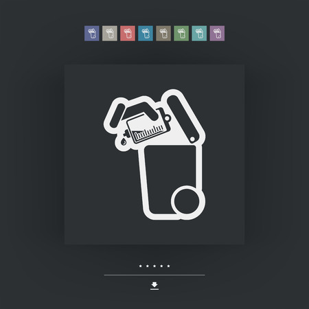 Separate waste collection icon
